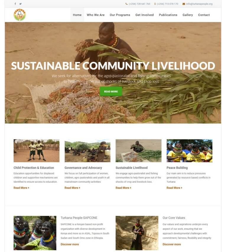 NGO Website Design, Kenya